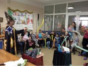 Праздник для детей из отделения онкогематологии Киевской областной больницы