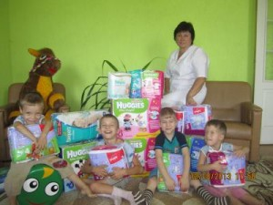 МБФ «Центр социальных проектов будущего» и ПАО «Укркоммунбанк» привезли помощь детям из Краснодонска